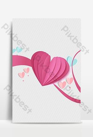 fondo de vector de cinta de sombreado de amor simple Fondos Modelo PSD