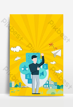 Company service star exhibition board background template Backgrounds Template PSD