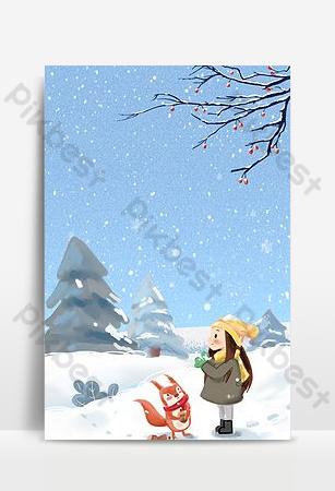 ilustración invierno blanco nevando primera nieve fondo de mapa empresarial Fondos Modelo PSD
