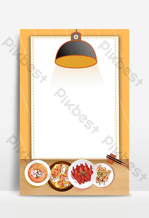 Fresh and simple delicious seafood buffet poster Backgrounds Template PSD