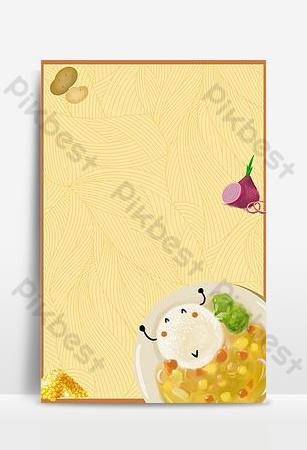 cartel de promoción de arroz de curry de comida tailandesa psd fondo en capas Fondos Modelo PSD
