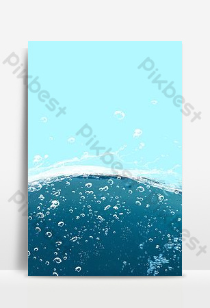 Blue deep sea real estate advertising background Backgrounds Template PSD