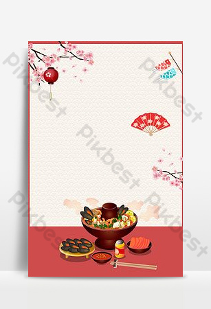 Chinese food spicy seafood hot pot background template Backgrounds Template PSD