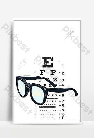 Creative eyes see the world ophthalmology poster Backgrounds Template PSD