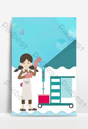 Housekeeping service housekeeping recruitment poster Backgrounds Template PSD