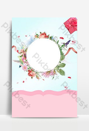 pequeño fondo fresco del ramo del amor de la boda h5 Fondos Modelo PSD