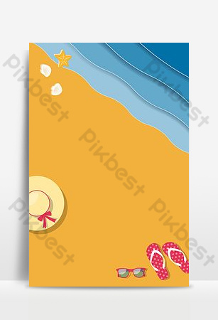 The background image of the seaside travel poster for the 11th national day holiday Backgrounds Template PSD