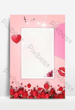 amor romántico rosa imagen de fondo Fondos Modelo PSD
