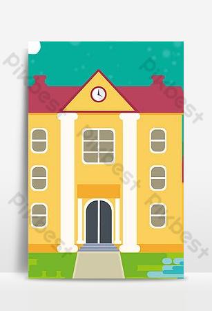 imagen de fondo del vector del cartel del libro de imágenes de la educación del estilo del dibujo de los niños lindos Fondos Modelo PSD