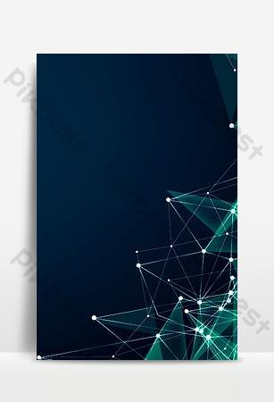Image d'arrière-plan affiche flyer entreprise dégradé géométrique bleu Fond Modèle PSD