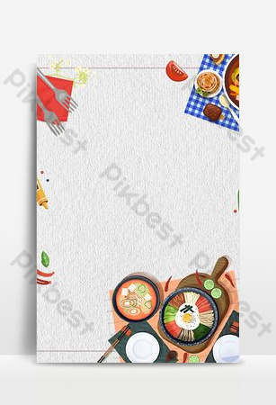 Vector minimalistic cartoon food poster background Backgrounds Template PSD