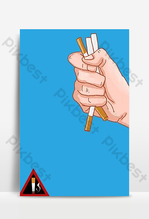 festival de recordatorio cálido no fume imagen de fondo del cartel de bienestar público Fondos Modelo PSD