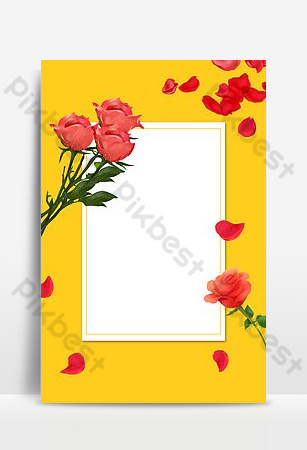 hermosa rosa roja roll up standee imagen de fondo Fondos Modelo PSD