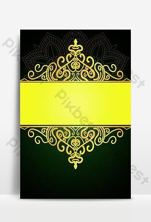 矢量金色紋理圖案黑色和綠色背景圖像 背景 模板 PSD