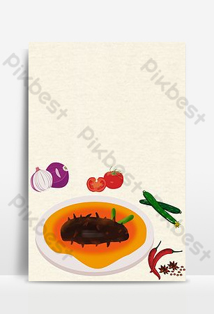 Need simple seafood sea cucumber promotion Backgrounds Template PSD
