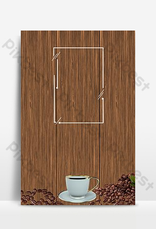 創意和簡單的下午茶咖啡 背景 模板 PSD