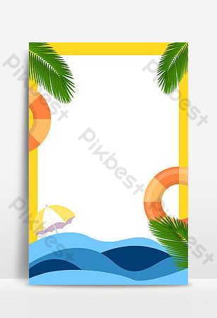 Imahe sa background ng poster ng paglalakbay sa isla Background Template PSD