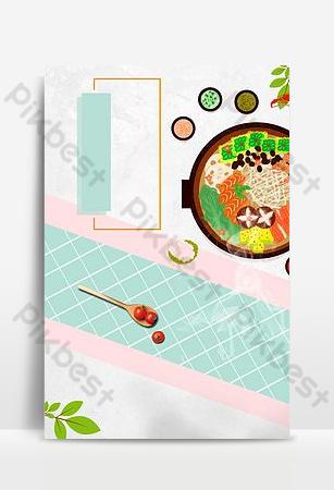 cartel de tazón de arroz de estilo chino psd fondo en capas Fondos Modelo PSD