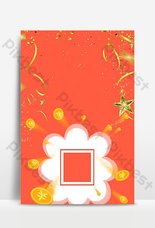 imagen de fondo del cartel del código qr de wechat de escaneo naranja Fondos Modelo PSD