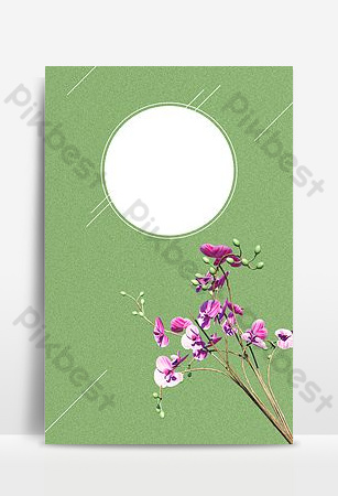 Green small fresh september hello h5 background image Backgrounds Template PSD