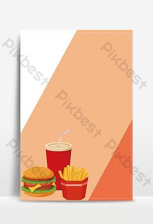 Hamburger famille seau couple package flyer image de fond Fond Modèle PSD