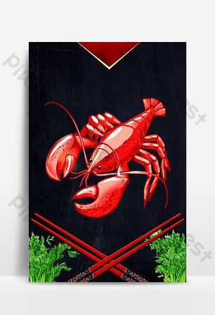 Seafood special poster background image Backgrounds Template PSD