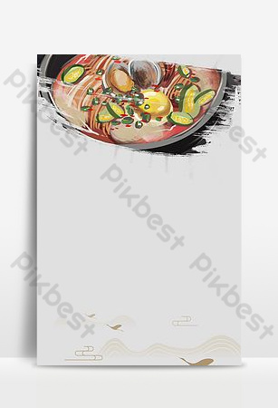 Need simple seafood abalone promotion Backgrounds Template PSD