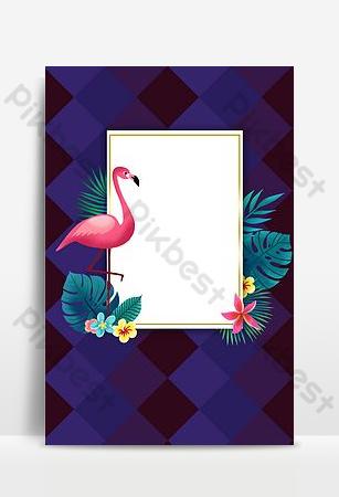 fondo del cartel de la promoción del supermercado de la tienda del centro comercial flamingo Fondos Modelo PSD