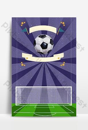 But de football bleu magnifique fond d'affiche de lumière Fond Modèle PSD