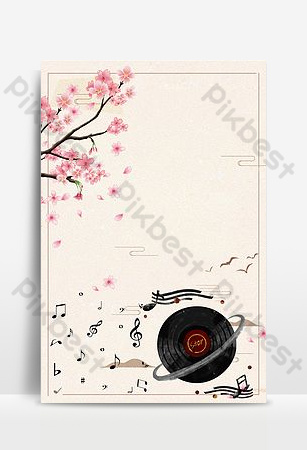 hình nền âm nhạcổ xưa Nền Bản mẫu PSD