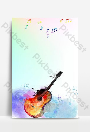 بسيطة الموسيقى الغيتار الغيتار عطلة الصيف الطبقة h5 صورة الخلفية خلفيات قالب PSD