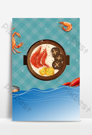 Seafood special catering food poster Backgrounds Template PSD