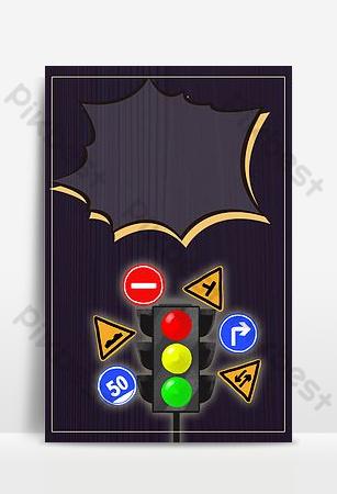 imagen de fondo de la señal de tráfico amarilla simple h5 Fondos Modelo PSD