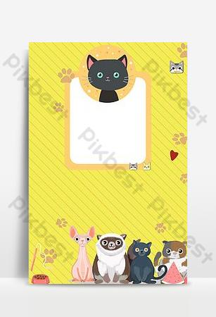 可愛的寵物海報帶我回家矢量背景模板 背景 模板 PSD