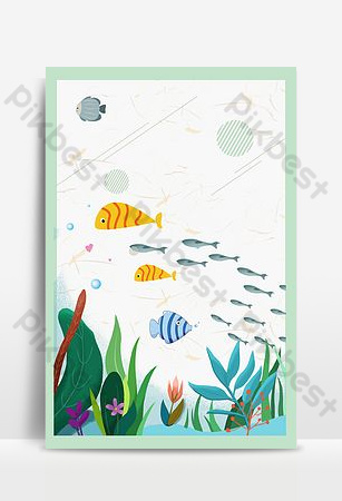 Cool summer seaside travel poster background image Backgrounds Template PSD