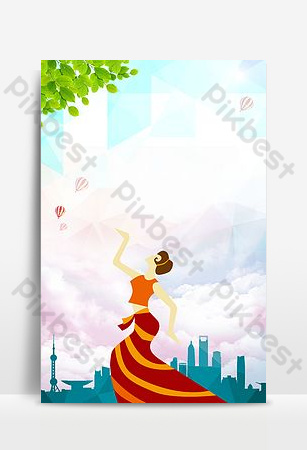 廣場舞比賽海報背景圖片 背景 模板 PSD