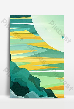 Seaside reef landscape background Backgrounds Template PSD