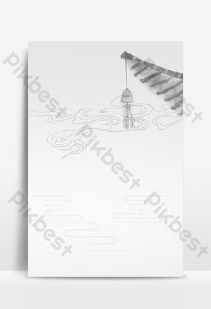 trung quốc đơn giản phong cách màu xám cổ xưa phong cách xa núi poster nền Nền Bản mẫu PSD