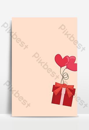 globo de amor rosa caja de regalo roja volando fondo de confesión 520 Fondos Modelo PSD
