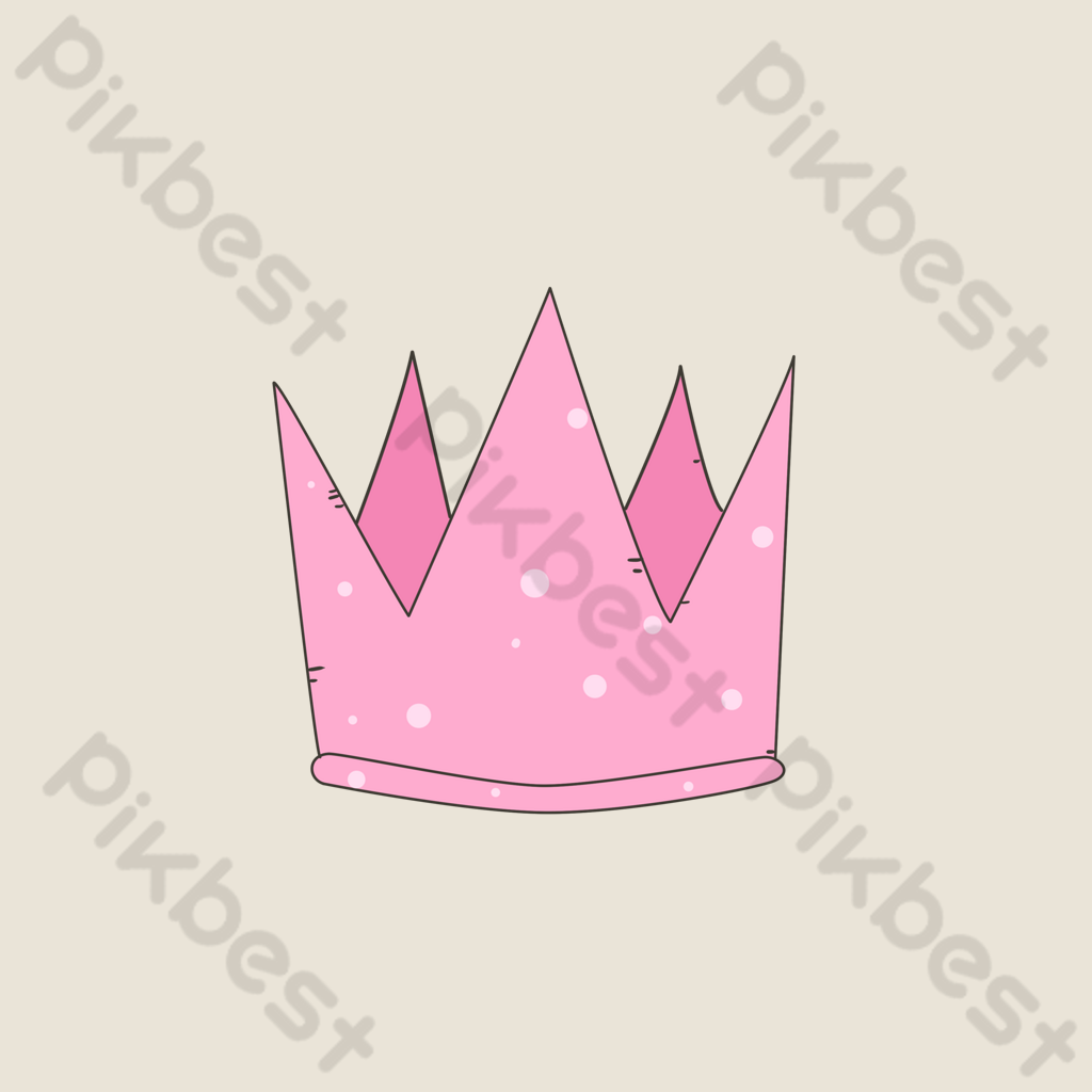 Pink Cartoon Icon Crown Png Images Psd Free Download Pikbest Vector of a cute cartoon crown with pink heart for girl. pikbest