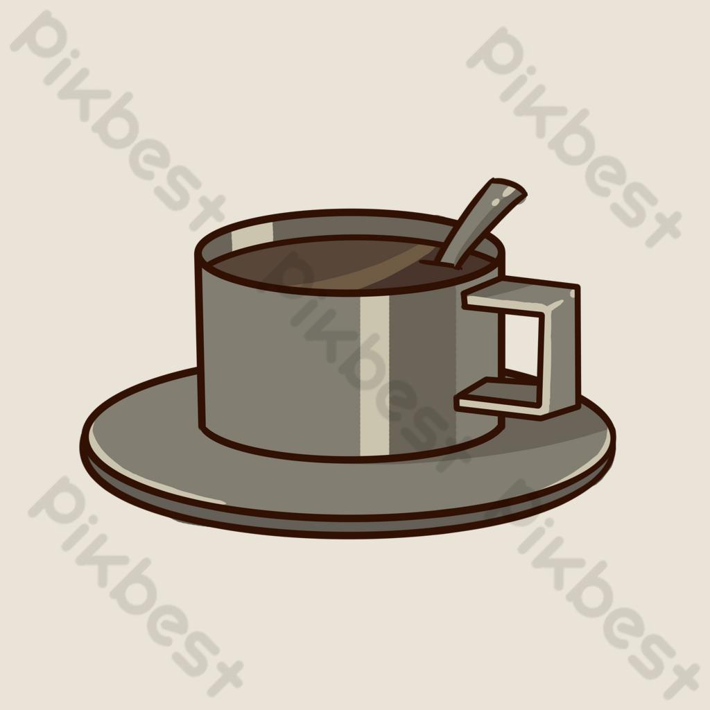cawan kopi keluli tahan karat hitam