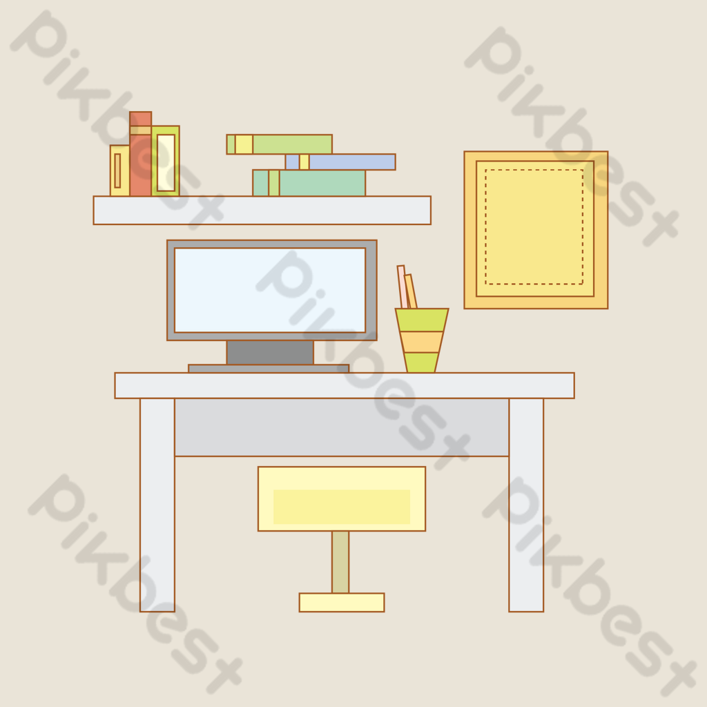 Office area desks and chairs  PNG Images AI Free Download - Pikbest