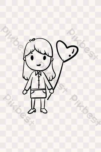 Gambar Garis Belon Png Kartun Lukisan Vektor Free Download Pikbest