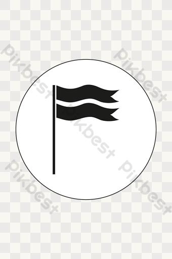 Gambar Bendera Emas Png Kartun Lukisan Vektor Free Download Pikbest