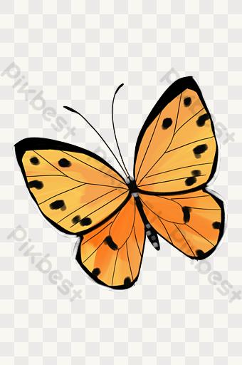 Gambar Ilustrasi Rama Rama Png Kartun Lukisan Vektor Free Download Pikbest