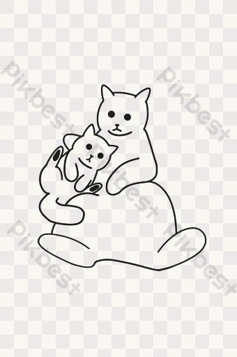 Gambar Vektor Anak Ibu Png Kartun Vektor Download Gratis Pikbest