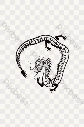 Gambar Naga Hitam Template Psd Png Vektor Download Gratis Pikbest
