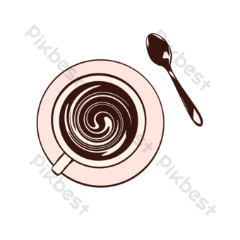 القهوة الساخنة صورة ظلية اليد تعادل كوب القهوة صور PNG قالب PSD