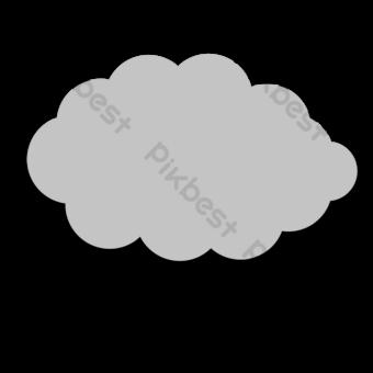 작은 검은 구름 구름 클립 아트 일러스트 템플릿 PSD