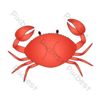 crab clipart oceanic food vector crab illustration PNG Images Template AI